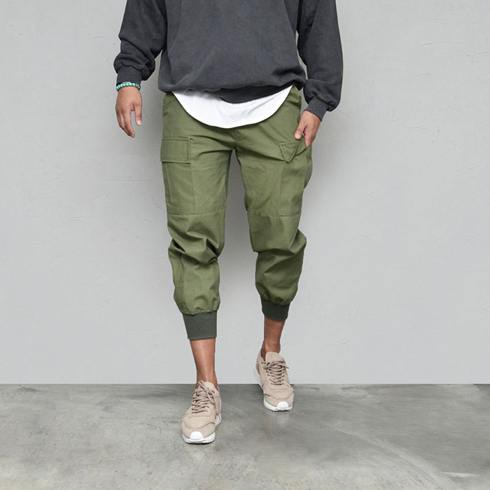 Masculine Military Cargo Jogger-Pants 612