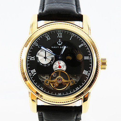 moon phase dial watch