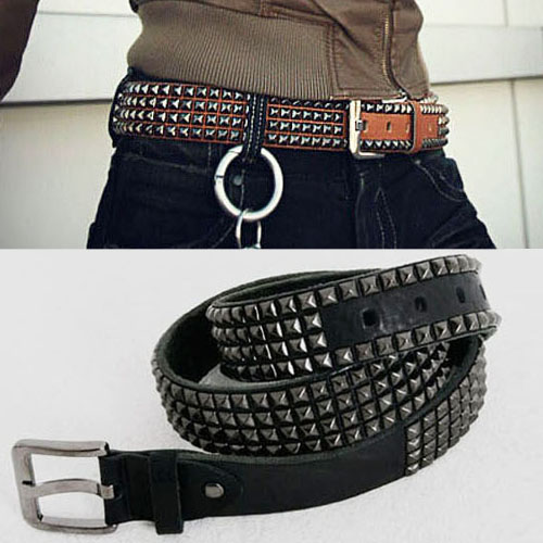 men's stud belt
