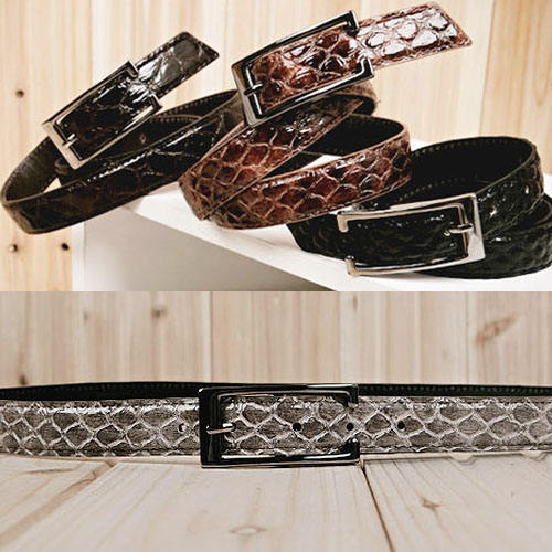 men's snake belt