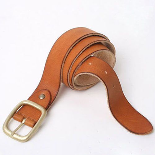 men's vintage leather belt