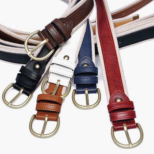 men's canvas leather belt