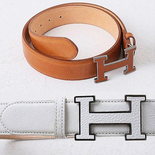 men's big H leather belt