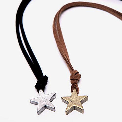 men's vintage star necklace