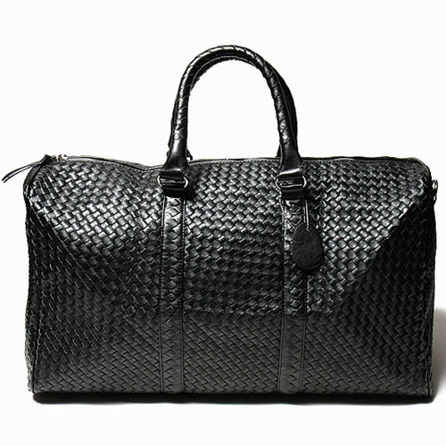 Braided Leather Boston Bag-Bag 08