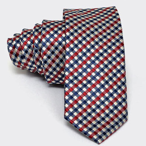 Modern Checkered Slim Dress Tie