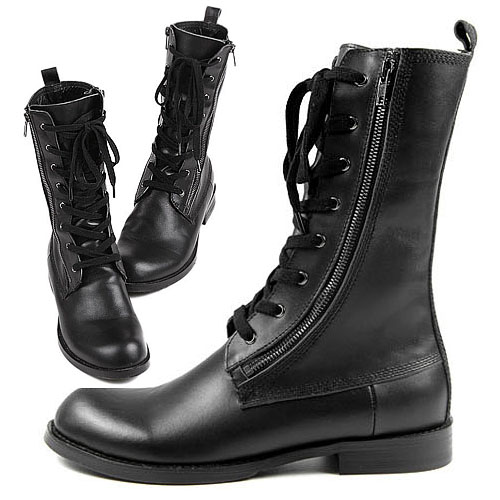 Runway Zippered Highneck Boots-Shoes 67