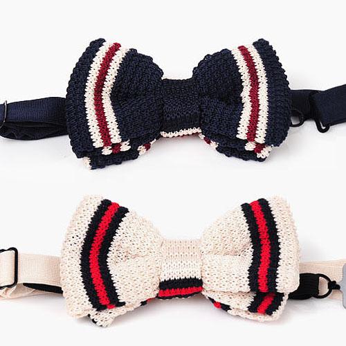 Fashionable Stripe Knit Tie-Tie 15