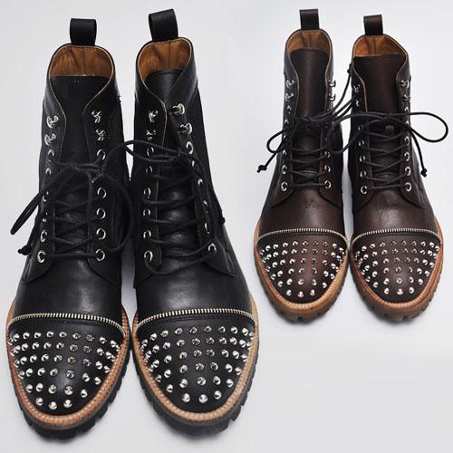 Runway Monster Kipskin Stud Boots-Shoes 76
