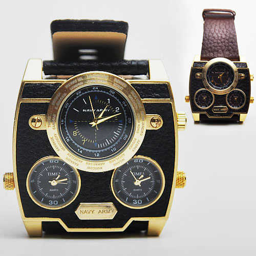 Oversized Retro Gold Frame-Watch 34