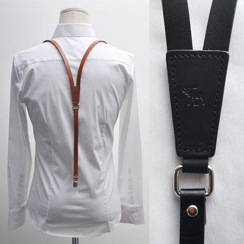 Classic Genuine Cowhide Suspender-Gadget 17