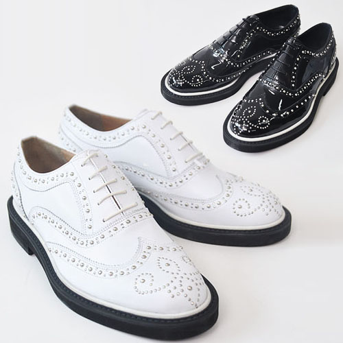 Designer Lux Stud Wingtip-Shoes 122