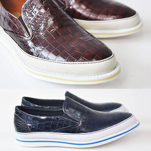 Crocodile Cowhide Designer Loafer-Shoes 123