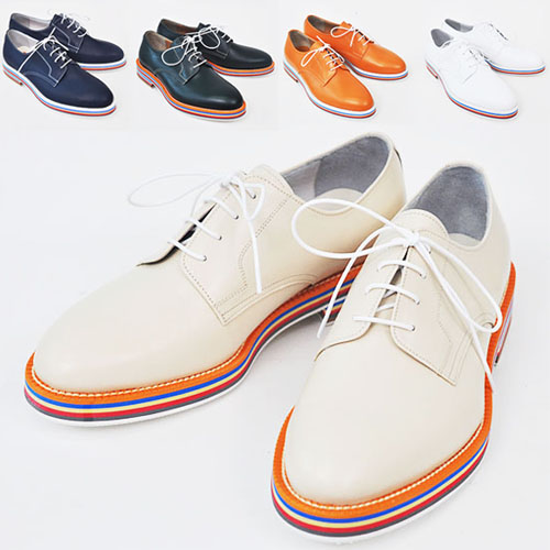 Vibrant Stripe Deco Runway Oxford-Shoes 124