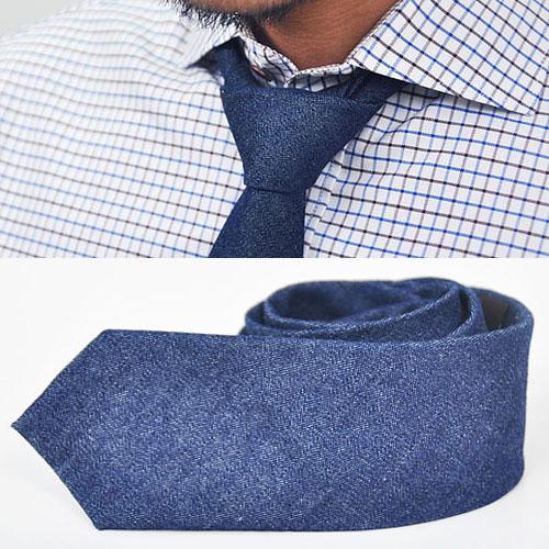 Hip & Trend-wise Dark Denim Tie-Tie 25