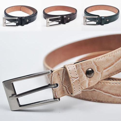 Dress Must-have Crocodile Pattern Cowhide-Belt 66