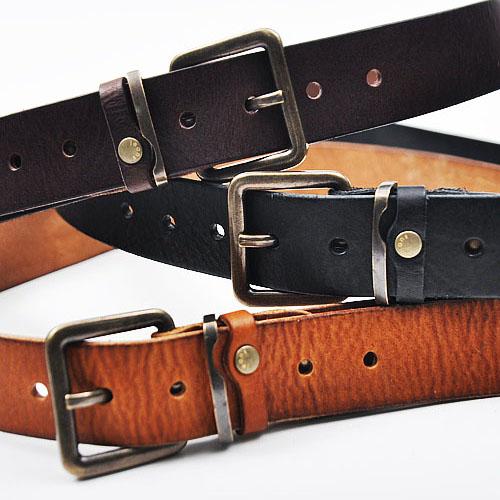 Vintage Washed Cowhide Jean Belt-Belt 70