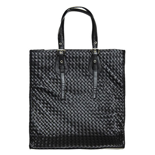 Uber-chic Braided Leather Tote-Bag 100