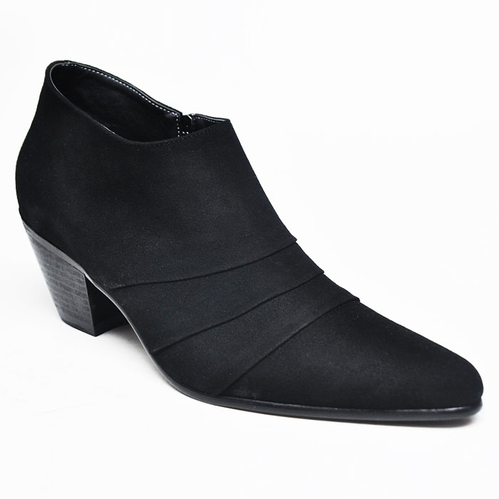 5cm Kill Heel Pleat Ankle Suede Boots-Shoes 242