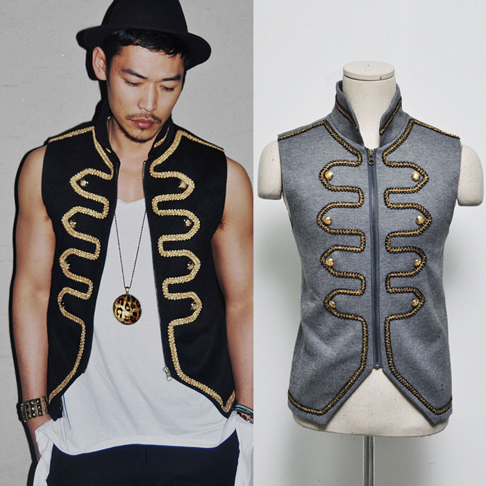 Runway Lux Gold Embroidery Napoleon-Vest 18