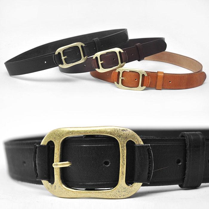 Unique Brass Buckle Classic Cowhide-Belt 101
