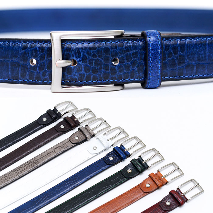Lux Snakeskin Pattern Cowhide Dress-Belt 106