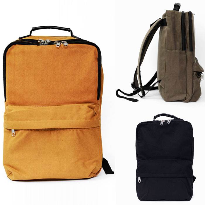 Minimal Double Zipper Canvas Backpack-Bag 137