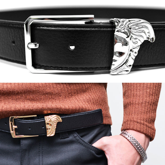 Artistic Broken Face Buckle Cowhide-Belt 108