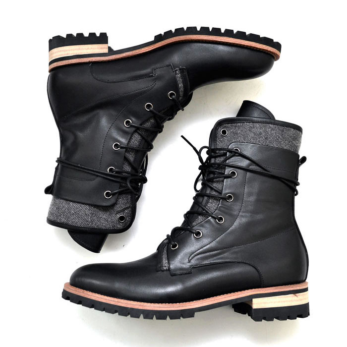 Double Contrast Layer High Boots-Shoes 354