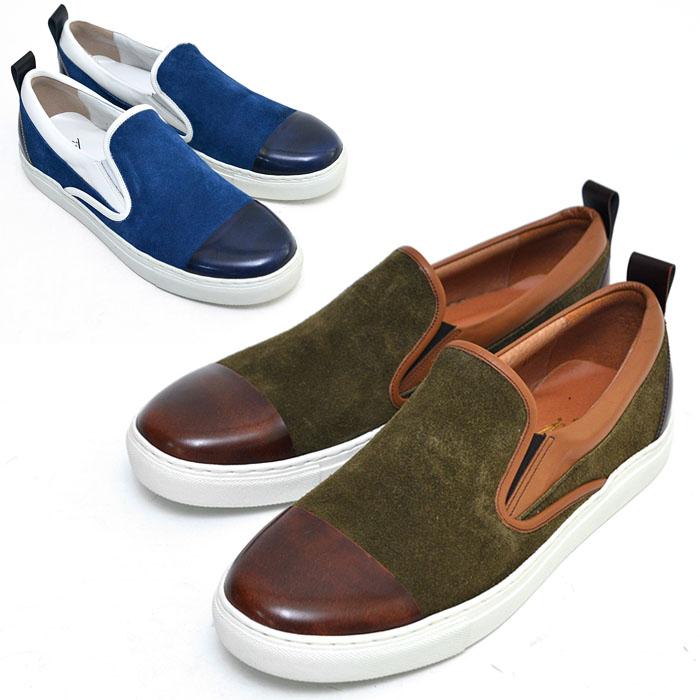Contrast Toe Suede Slipon Loafer-Shoes 416