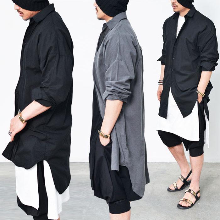Avant-garde Oversized Long Shirt-Shirt 139