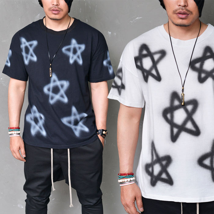 Fade Star Spray Loose Wash Round-Tee 548