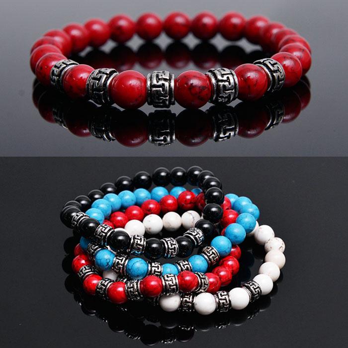 Color Onix Gemstone Beads-Bracelet 226