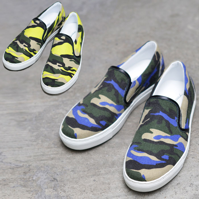 Summer Linenblend Camouflage Slipon-Shoes 466