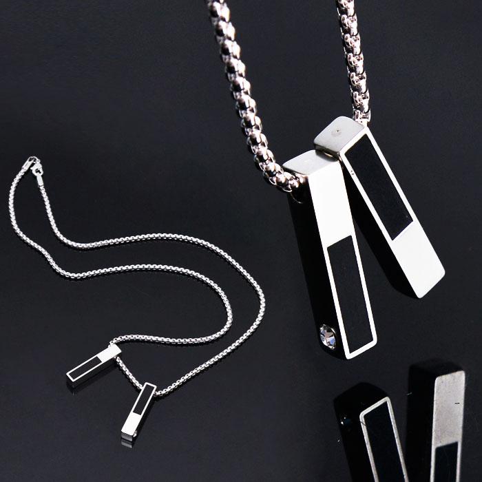 Uber Sleek Twins Rectangle Short-Necklace 224