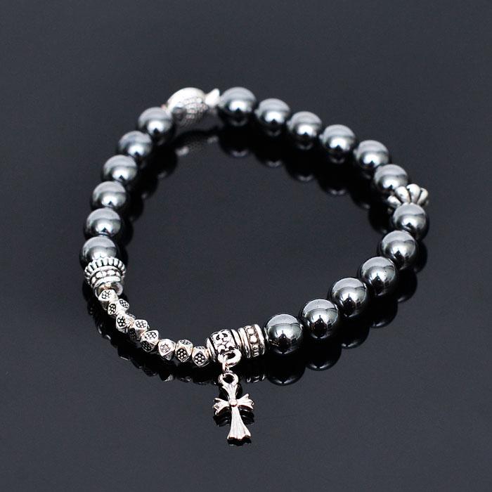 Multi Silver Gemstone Beads-Bracelet 236