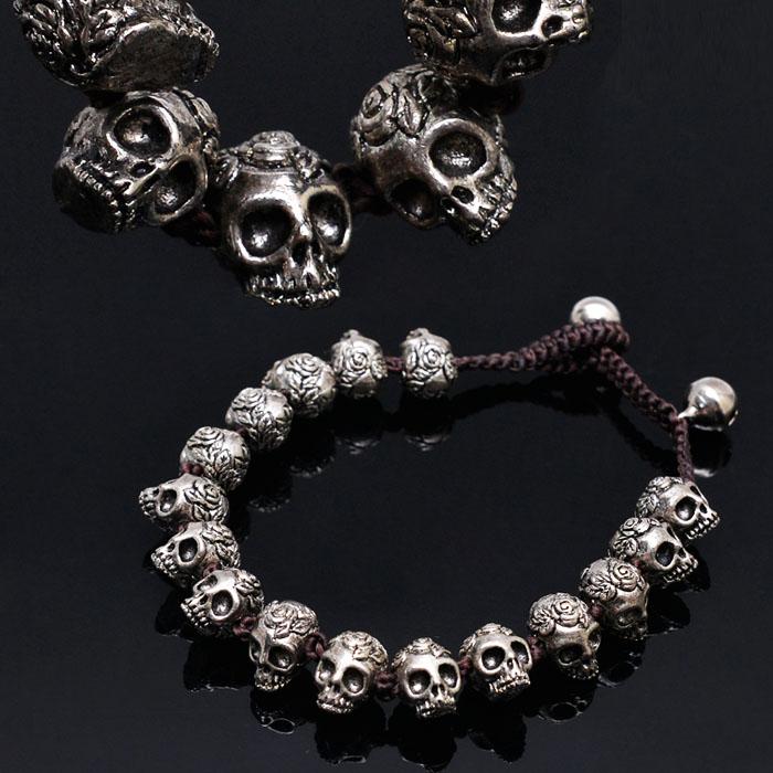 Multi Stainless Steel Skull Metal Beads-Bracelet 241