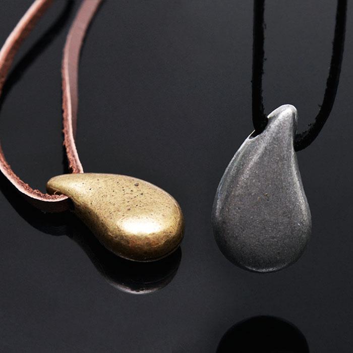 Romantic Raindrop Pendant Leather-Necklace 230