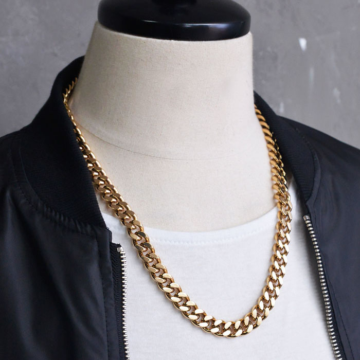 Gold Steel Short Swag Chain-Necklace 232