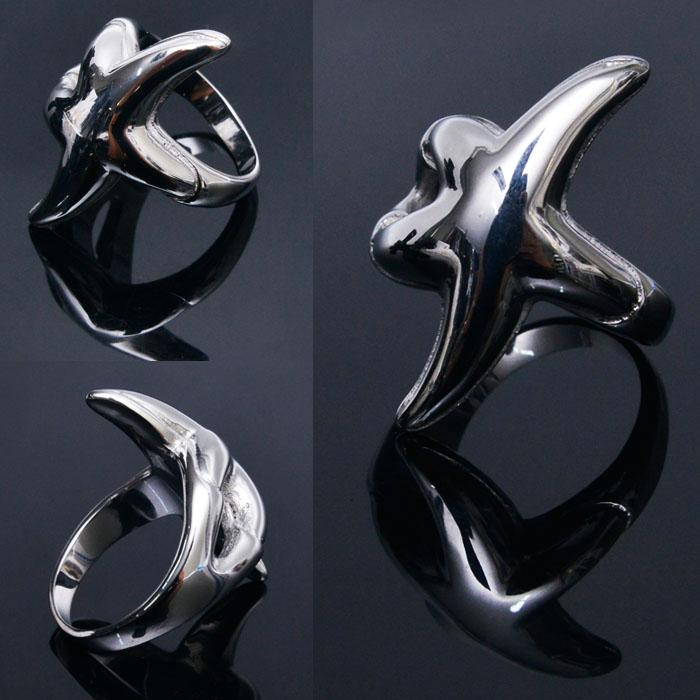 Super Unique Silver Star Ring-Ring 51