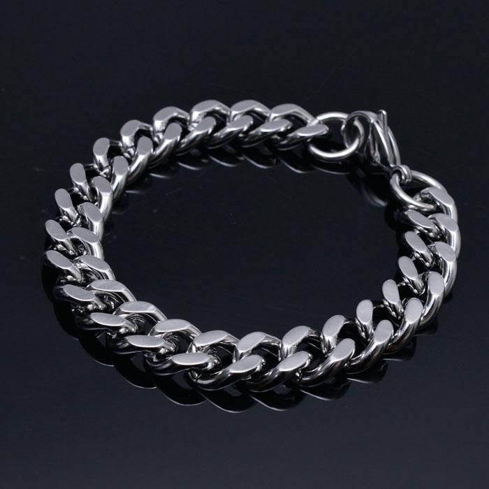 Swag Silver Metal Chain Cuff-Bracelet 268