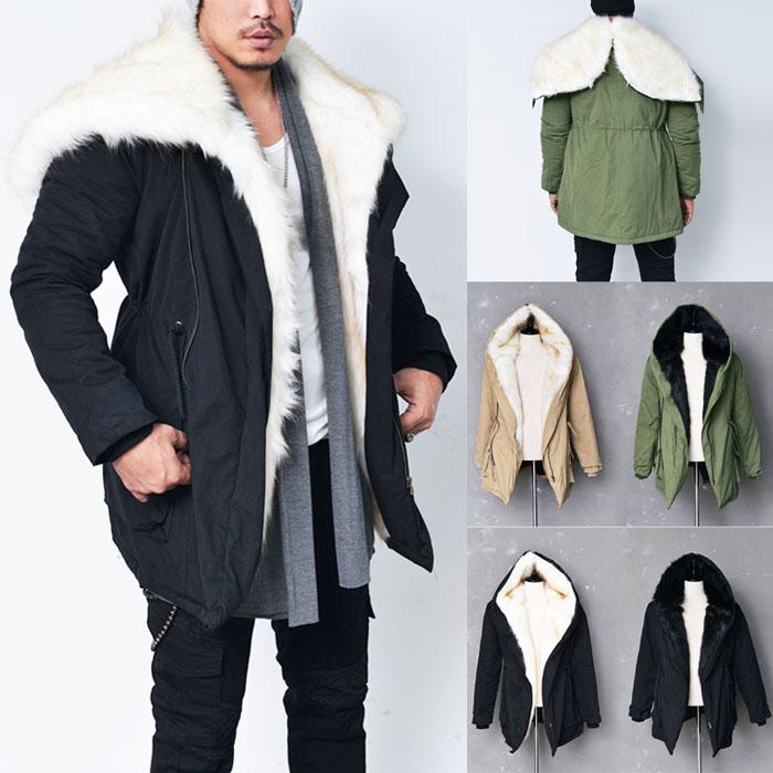Rich Rabbit Fur Hooded Military Jacket-Parka 41