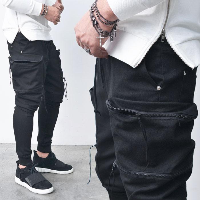 Double Zip Big Cargo Baggy Jogger-Sweatpants 244