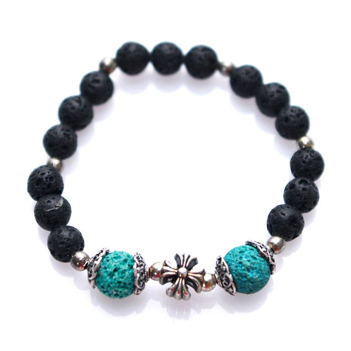 Real Volcano Stone Mix Beads-Bracelet 292