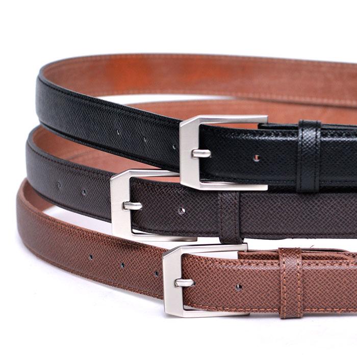 Matt Buckle Leather Dress-Belt 145