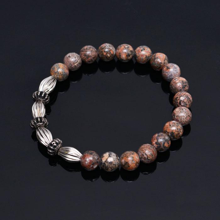 Apricot Flower Gemstone Beads-Bracelet 305