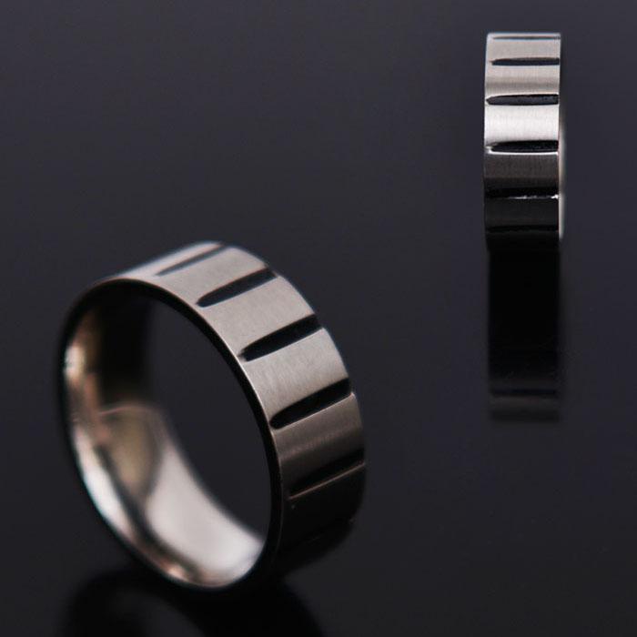 Unique Black Crack Ring-Ring 59