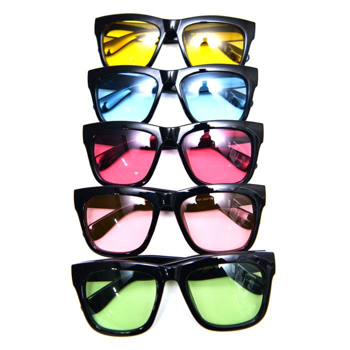 Retro Edge Tint Shading Sqaure-Sunglasses 95