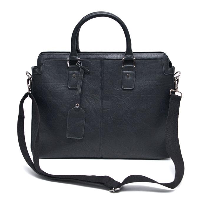 Minimal Crack Leather Tote-Bag 186