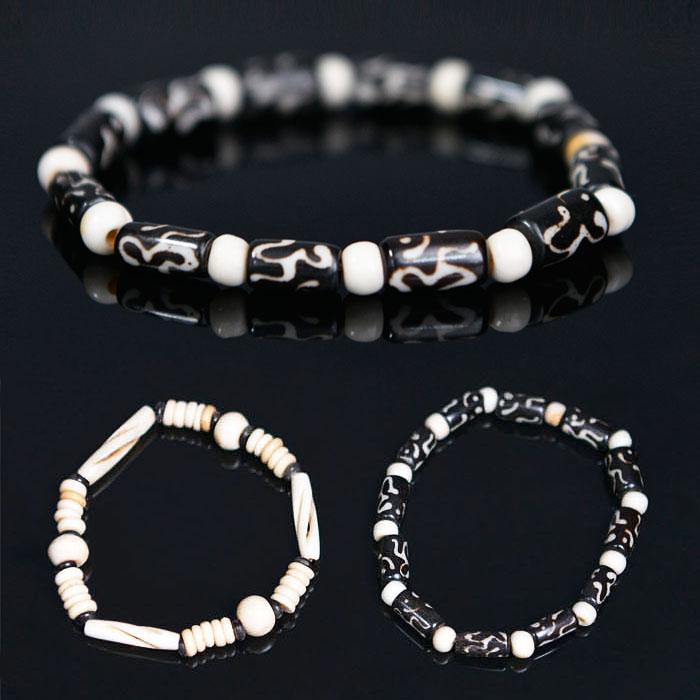 Tribal Camel Bone Beads-Bracelet 323